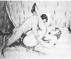 Lots of old style but fashionable porn appears to be in this porn drawing.