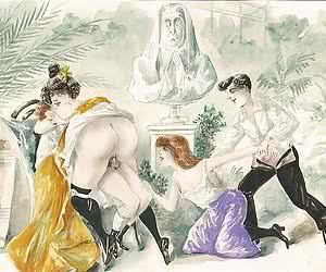 Lots of wild and lusty outdoor sex makes this vintage porn cartoon hot.