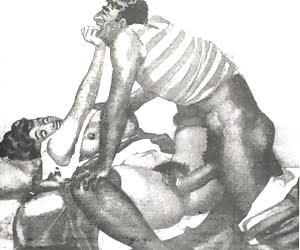 Raping hairy pussies was very common practice in retro porn drawings.