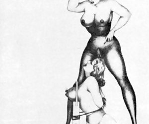 Unbelievable lust and acceptable big tits are looking from these retro porn drawings.