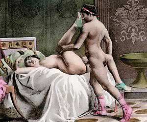 Very good drawn sex scenes fulfill this amazing retro porn drawing.
