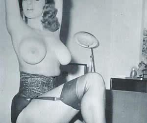 Amazingly sexy gals lose control while making nice showoffs on genuinely hot retro lingerie pictures