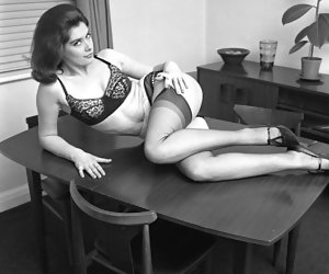 Authentically sexy girls lose themselves while showing themselves and their vintage lingerie
