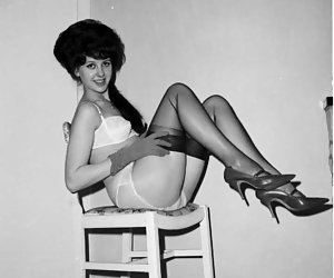 Corking hot chicks smile and get really strong pleasure on posing in their favorite retro lingerie