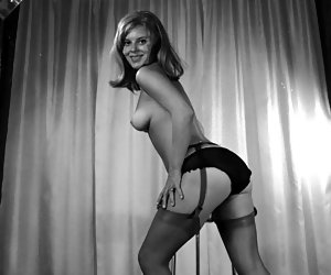Excited girls lose control while posing in vintage lingerie and showing their long and silky legs