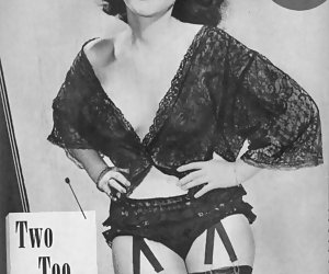 Really hot and beautiful females do their best while posing on retro lingerie pictures of your dreams