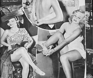 Vintage lingerie erotica featuring some hot and very attractive ladies pose very willingly