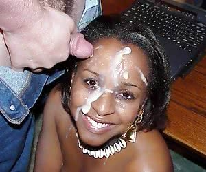 Category: ebony cum facials